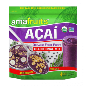 package of acai puree
