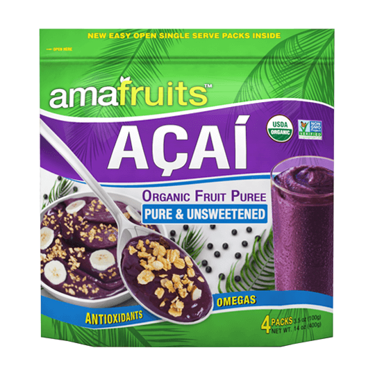 package of pure acai puree