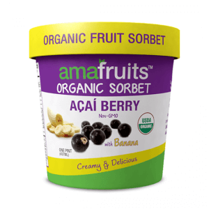 acai banana sorbet package