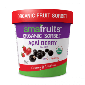 acai strawberry sorbet package