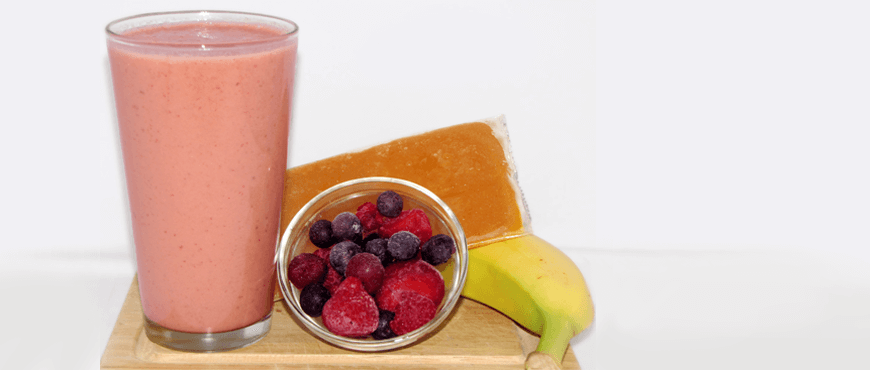 Acerola and Berries Smoothie with banana