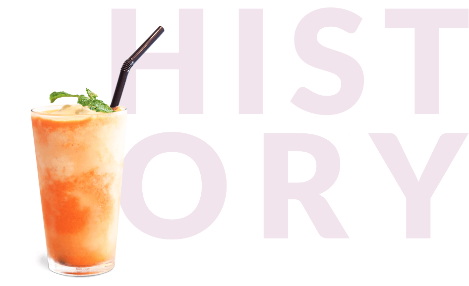 Acerola smoothie in glass with History