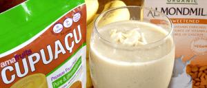 Cupuacu Almond Milk Smoothie with Cupuacu package